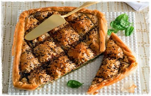 Torta greca con spinaci e feta 14468010