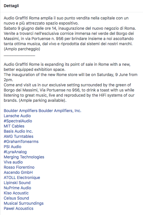 evento audio a Roma  Scherm21