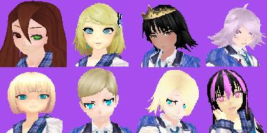 personnages en 3D Faces11