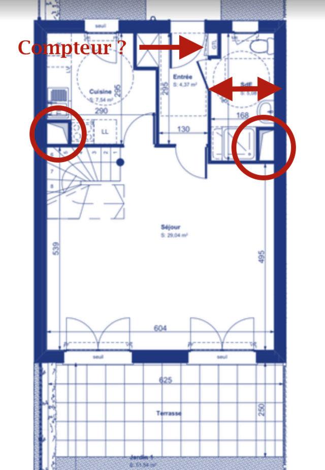 Aménagement Maison VEFA - Cuisine vs. Salle d'eau Captur86