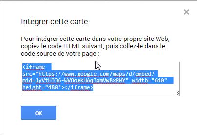 """Comment intégrer une """"google Maps"""" dans un message ? Screen12"""