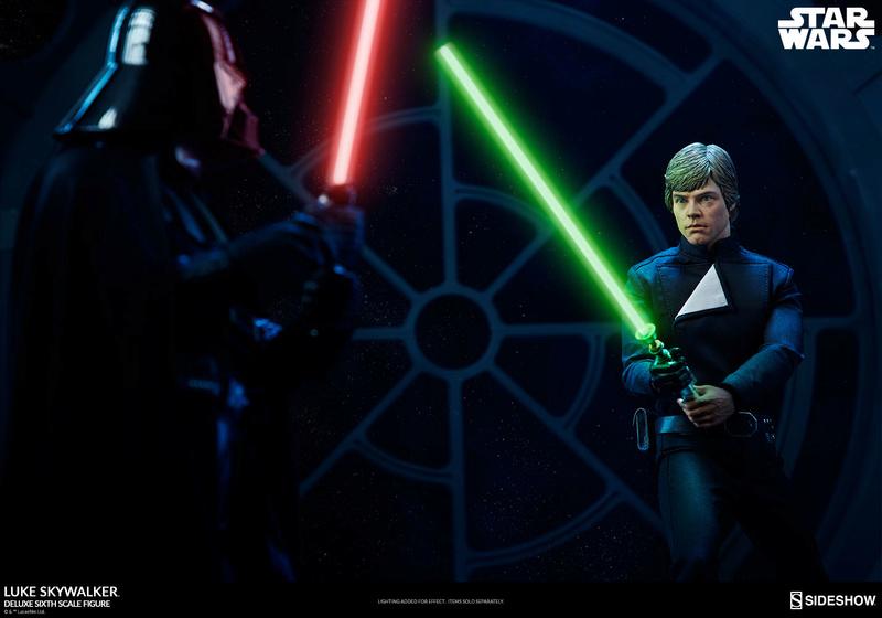 Sideshow Collectibles- Luke Skywalker ROTJ Deluxe 1/6 figure Star-w22