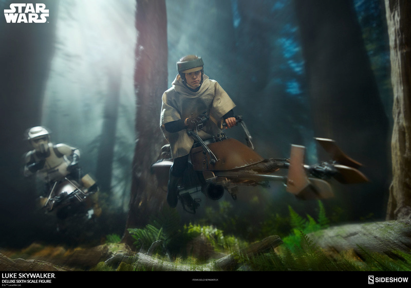 Sideshow Collectibles- Luke Skywalker ROTJ Deluxe 1/6 figure Star-w32