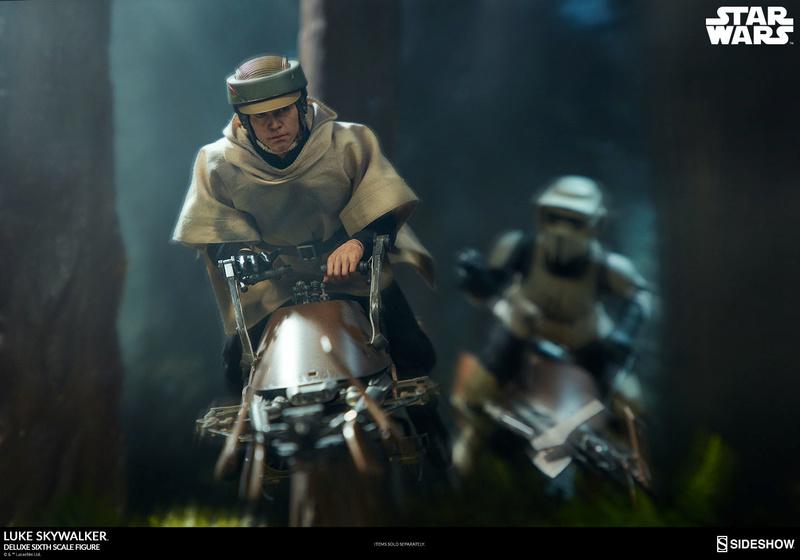Sideshow Collectibles- Luke Skywalker ROTJ Deluxe 1/6 figure Star-w34
