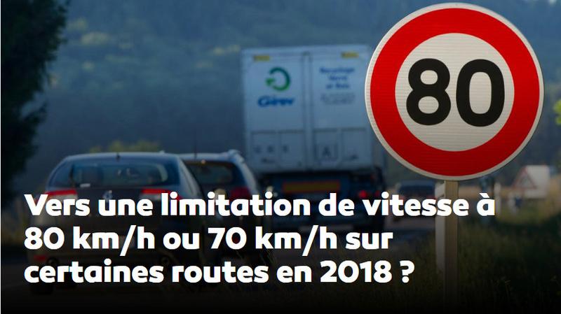 limitation de la vitesse à 80 Km/h sur route en 2018 A22