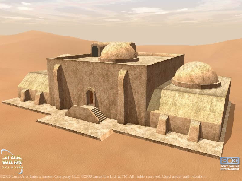 [Projet] Mos Eisley, la capitale, ses habitations, son spatioport... Tatooi11