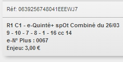 26/03/2018 --- CHANTILLY --- R1C1 --- Mise 3 € => Gains 2 € Scree637
