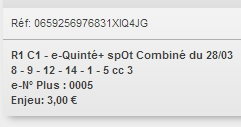 28/03/2018 --- BORELY --- R1C3 --- Mise 3 € => Gains 0 € Scree647