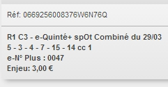 29/03/2018 --- CHANTILLY --- R1C3 --- Mise 3 € => Gains 0 € Scree651