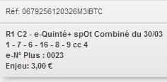 30/03/2018 --- VINCENNES --- R1C2 --- Mise 3 € => Gains 0 € Scree655