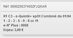 01/04/2018 --- AUTEUIL --- R1C3 --- Mise 3 € => Gains 0 € Scree663