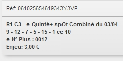 03/04/2018 --- CHANTILLY --- R1C3 --- Mise 3 € => Gains 0 € Scree672