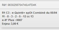 05/04/2018 --- SAINT-CLOUD --- R1C3 --- Mise 3 € => Gains 0 € Scree677