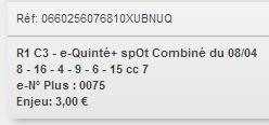 08/04/2018 --- LONGCHAMP --- R1C3 --- Mise 3 € => Gains 0 € Scree692