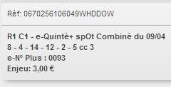 09/04/2018 --- DEAUVILLE --- R1C1 --- Mise 3 € => Gains 0 € Scree696