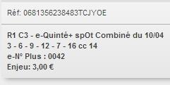 10/04/2018 --- COMPIEGNE --- R1C3 --- Mise 3 € => Gains 0 € Scree700