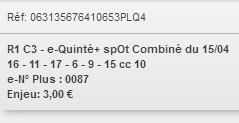 15/04/2018 --- LONGCHAMP --- R1C3 --- Mise 3 € => Gains 0 € Scree721