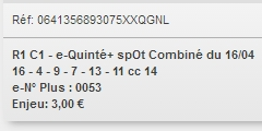 16/04/2018 --- CHANTILLY --- R1C1 --- Mise 3 € => Gains 0 € Scree725