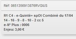 17/04/2018 --- MAISONS-LAFFITTE --- R1C4 --- Mise 3 € => Gains 0 € Scree729