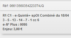 18/04/2018 --- PONTCHATEAU --- R1C1 --- Mise 3 € => Gains 0 € Scree733