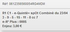 23/04/2018 --- COMPIEGNE --- R1C1 --- Mise 3 € => Gains 0 € Scree754