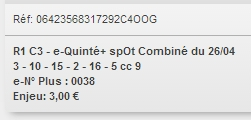 26/04/2018 --- COMPIEGNE --- R1C3 --- Mise 3 € => Gains 0 € Scree766