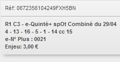 29/04/2018 --- LONGCHAMP --- R1C3 --- Mise 3 € => Gains 0 € Scree780