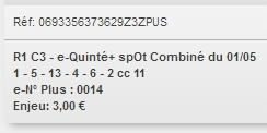 01/05/2018 --- SAINT-CLOUD --- R1C3 --- Mise 3 € => Gains 0 € Scree784