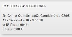 02/05/2018 --- SAINT-GALMIER --- R1C1 --- Mise 3 € => Gains 0 € Scree788