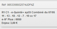 07/05/2018 --- CHANTILLY --- R1C1 --- Mise 3 € => Gains 0 € Scree806