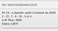 20/05/2018 --- AUTEUIL --- R1C6 --- Mise 3 € => Gains 0 € Scree862