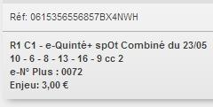 23/05/2018 --- LE CROISE-LAROCHE --- R1C1 --- Mise 3 € => Gains 0 € Scree872