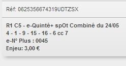 24/05/2018 --- LONGCHAMP --- R1C5 --- Mise 3 € => Gains 0 € Scree876
