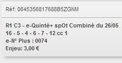26/05/2018 --- ENGHIEN --- R1C3 --- Mise 3 € => Gains 0 € Scree886