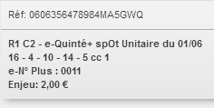 01/06/2018 --- VINCENNES --- R1C2 --- Mise 2 € => Bonus 10 € Scree911