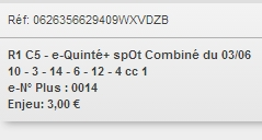 03/06/2018 --- CHANTILLY --- R1C5 --- Mise 3 € => Gains 0 € Scree920