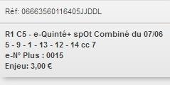 07/06/2018 --- LONGCHAMP --- R1C5 --- Mise 3 € => Gains 0 € Scree939