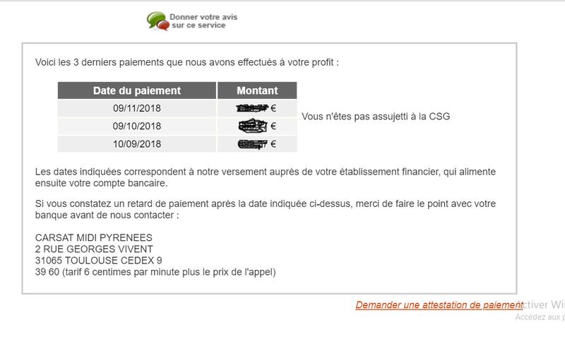 impots - CSG, CRDS, CASA, impôts français non applicables aux revenus imposés au Maroc Carsat13