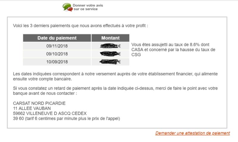 impots - CSG, CRDS, CASA, impôts français non applicables aux revenus imposés au Maroc Carsat14