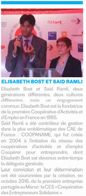 """economie - 07/11 - Conférence cycle """"Economie"""" Elisabeth Bosc et Saïd Ramli """"la coopérative des entrepreneurs solidaires"""" Ecole Nationale de Commerce et Gestion Rue de Fès 18 heures Coopyr10"""