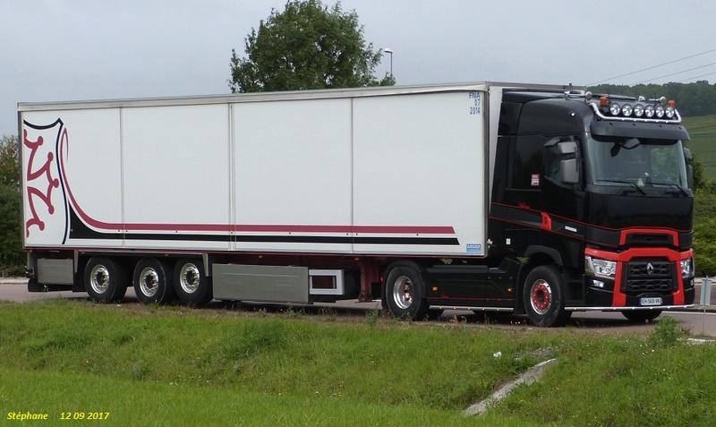 Renault série T noir et rouge avec frigo blanc Torvil89