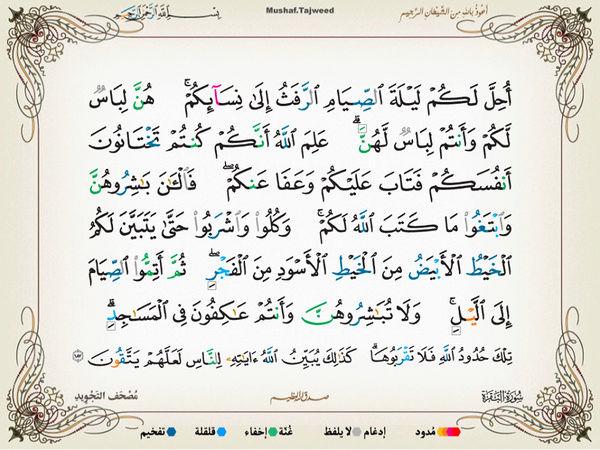 الآية 187 من سورة البقرة الكريمة المباركة Oa_18710