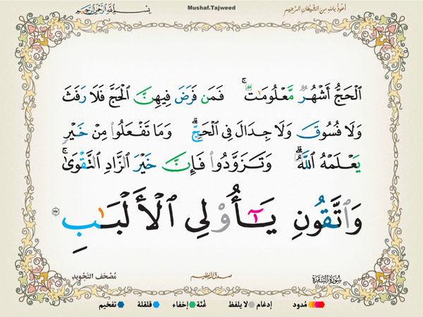 الآية 197 من سورة البقرة الكريمة المباركة Oa_19710