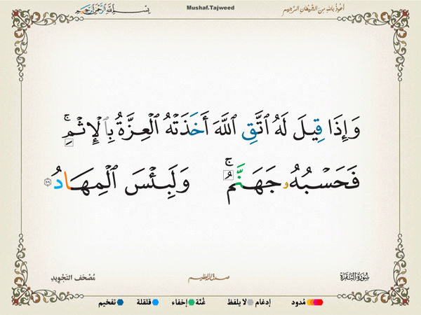 الآية 205 من سورة البقرة الكريمة المباركة Oa_20510