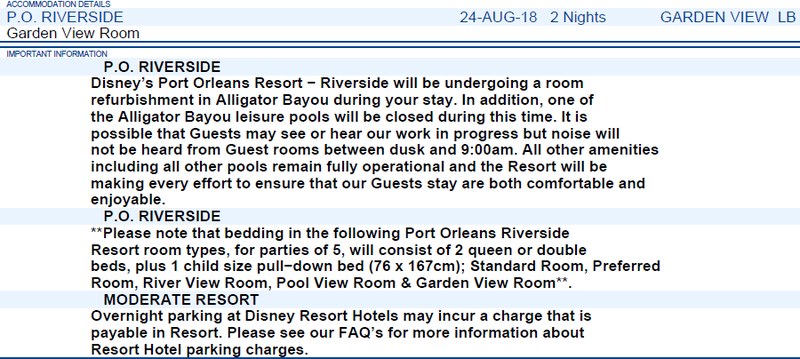 Séjour WDW Annulé/Reprogrammé : 1er au 11 mars 2019 Disney's Caribbean Beach Resort Factur10