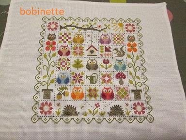 SAL patchwork aux chouettes jardin privé Bobine11