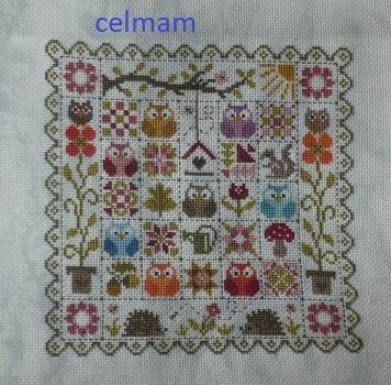 SAL patchwork aux chouettes jardin privé Celmam14