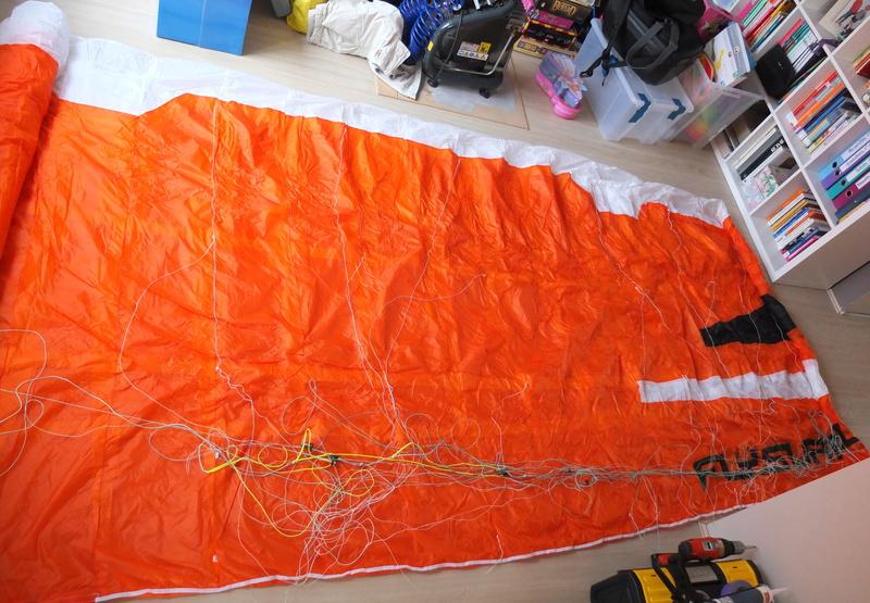VENDUE Flysurfer Speed5 15m² entre 15 et 20 sorties max.  Dscf9128