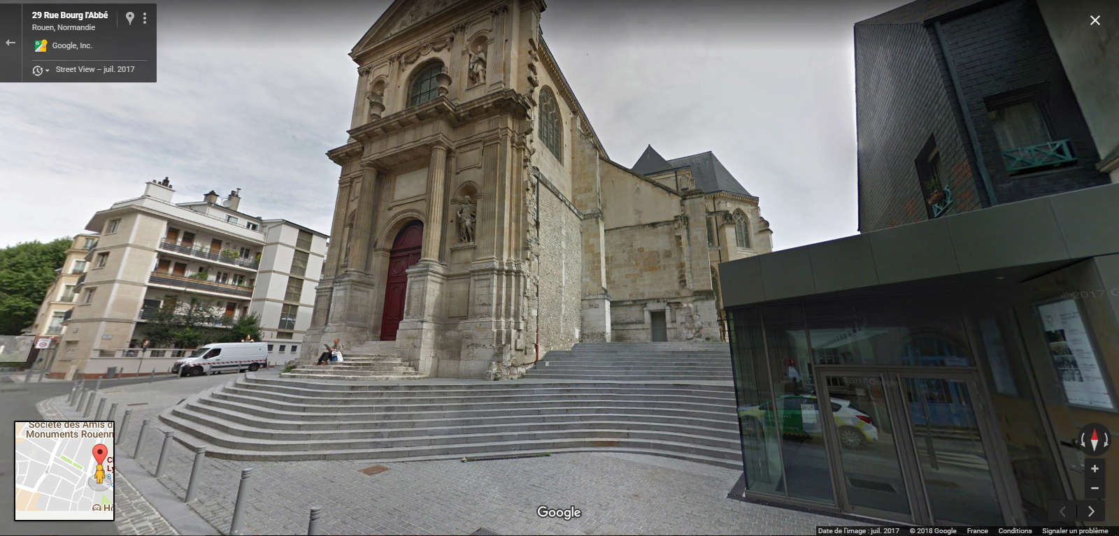 STREET VIEW : reflets de Google-Car Chapel11
