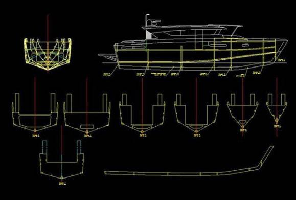 Yacht Delta 54 sur plan au 1/18° Image10